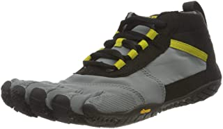 Vibram Five Fingers Women's V-Trek Trail Hiking Shoe (40 EU/8.5-9, Black/Grey/Citronelle)