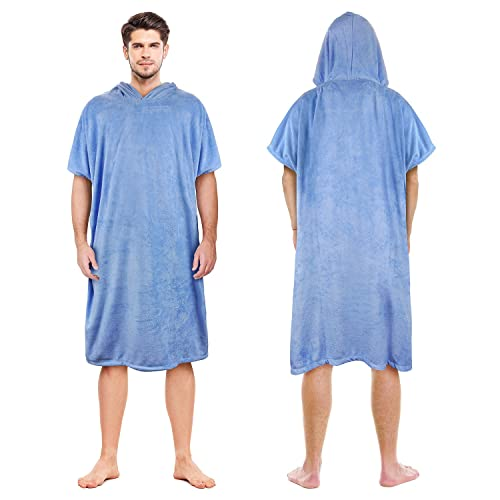 575c585088d761 Catalonia Beach Surf Poncho,Super Water Absorbent Wetsuit Changing Towel  Robe with Hood for Surfing