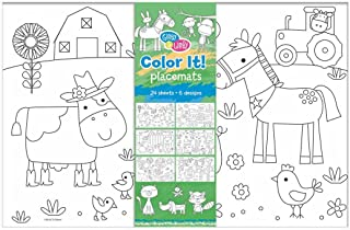 C.R. Gibson, 'Faithful Friends' Coloring Sheet Placemats for Kids 11'' H x 17'' W