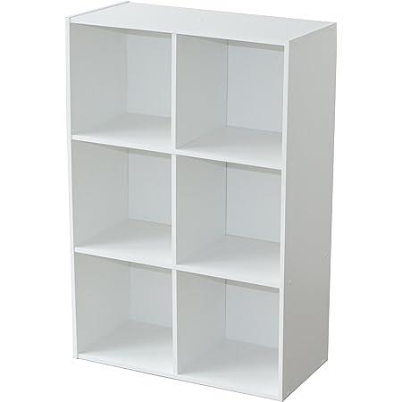 Alsapan Compo Meuble de Rangement 6 Casiers Bibliothèque Etagères Cubes Blanc 61,5 x 29,5 x 91,5 cm
