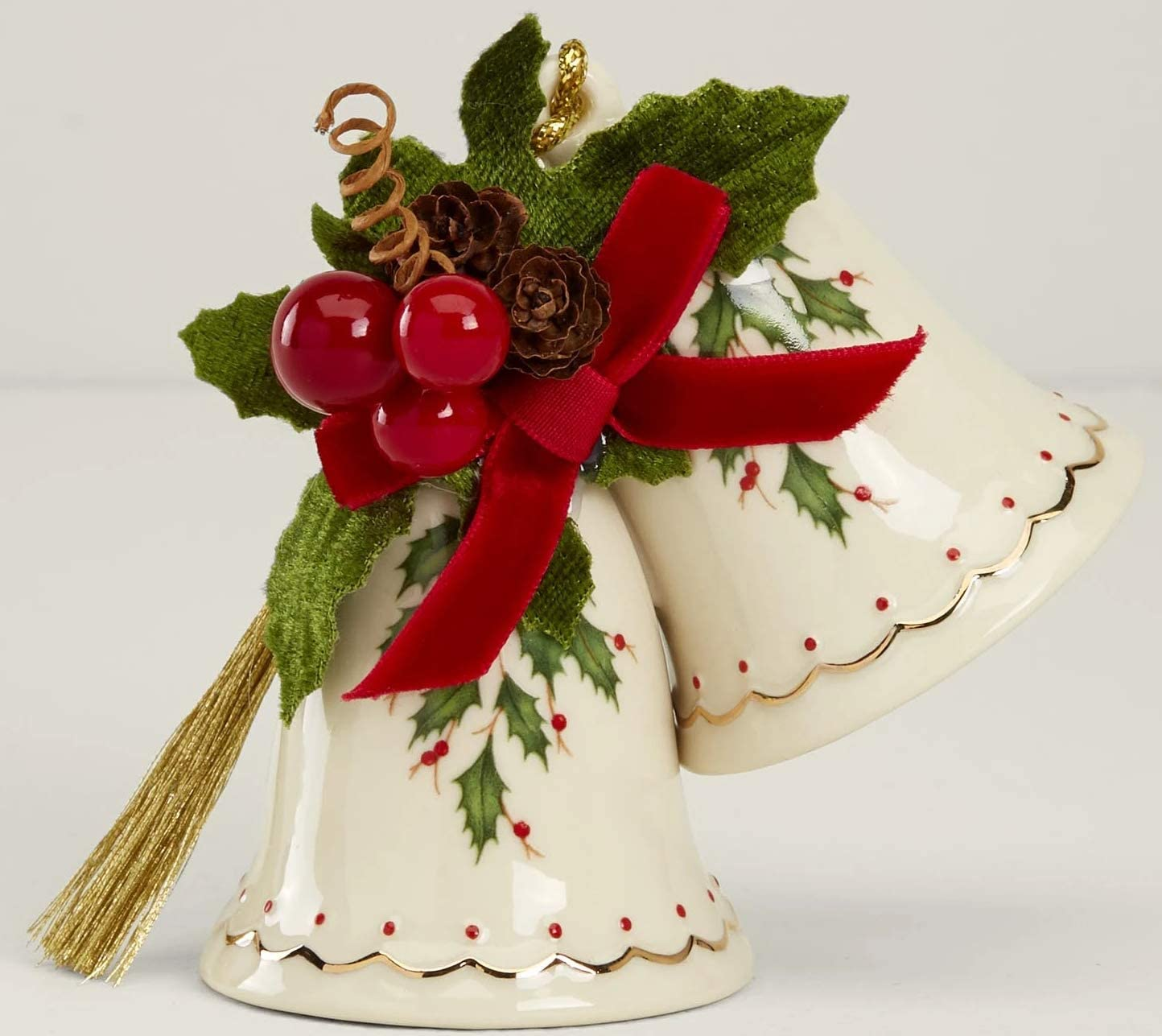 Lenox Holiday Xmas Jingle Bells mistletoe Porcelai Ranking TOP19 with Ornament Elegant