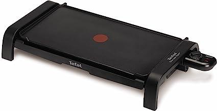 Tefal Thermospot CB540812 - Plancha de cocina de 2000 W con lisa, con thermospot que indica la temperatura, precalientamiento rápido, gran superfície de cocción, apta uso exterior
