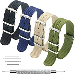 MEGALITH Cinturino Orologio 4/8 Pacchetti 16mm 18mm 20mm 22mm 24mm Balistico Cinturino Nato Cinturino in Nylon