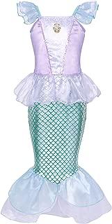 Little Mermaid Costumes Dress Ariel Halloween Princess Birthday Party Cosplay Accessories 1-12 Years