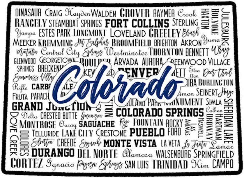 Scrapbook Customs 52299 Colorado State Layered Cut Los Angeles Mall Be super welcome Sights Laser
