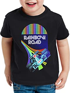 A.N.T. Rainbow Road Camiseta para Niños T-Shirt Double Dash Kart Tour GP Mario