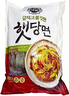 CJ Beksul Korean Vermicelli Dang Myun Glass Noodles Sweet Potato Starch, Homemade Taste (백설 햇당면) (1 kg (2.2 lb) x 1 Pack)