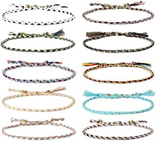 Jeka Handmade Wrap Friendship Braided Bracelet for Women Teen Girls Colorful Wrist Cord Adjustable Birthday Gifts-Party Favors
