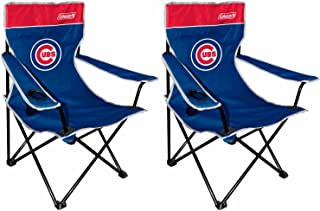 Rawlings Coleman MLB Chicago Cubs Broadband Quad Chair (2 Pack)
