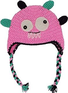 Cute Kids Baby Monster Beanie Hat Winter Crochet Braids Earflap Cap for Toddler Boys Girls