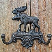 YWH-WH Wall Decoration American Nostalgic Wrought Iron Elk Decorative Hook