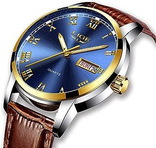 Mens Watches Fashion Simple Quartz Analog Watch Men Luxury Brand LIGE Waterproof Date Silver Blue Stainless Steel Watch