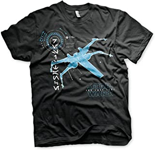 Officially Licensed The Last Jedi S-X-378 X-Wing Men's T-Shirt (Black)