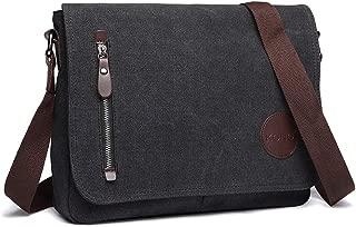 Canvas Laptop Messenger Bags Mens Crossbody Bags for Women 13.5'' Canvas Satchel Messenger Shoulder Bag Satchel Bags