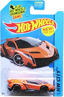 2014 Hot Wheels Hw City Lamborghini Veneno - Orange [Ships in a Box!] by Hot Wheels