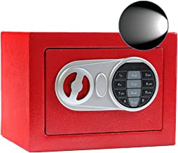 Sdstone Security Safe Box with Induction Light,Electronic Digital Securit Safe with Keypad, Wall or Cabinet Anchoring Desi...