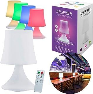Lámpara de mesa LED a prueba de agua - Lámpara de exterior con mando a distancia y cambio de color - sin cable con batería