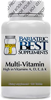 Multivitamin ADEK by Bariatric Best Supplements – 180-Pack Dietary Supplements High in Vitamins A, D, E, and K – Easy to Take – Made in USA Ideal for Bariatric Patients – Fast Absorption
