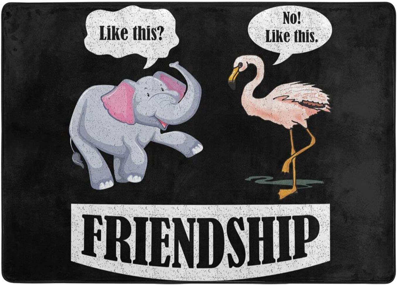 Ranking TOP3 lowest price wobzfrok Friendship Elephant and Flamingo Novelty Doormat Home a