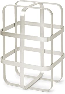 Umbra Pulse Wine Rack, Stackable Storage with 6 Bottle Capacity, Matte Nickel