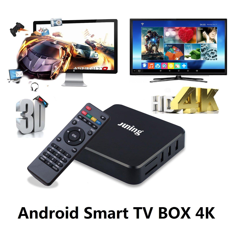 Juning S805 Smart Android TV Box Quad Core CPU 1GB + 8GB 2GHz Ultra HD WiFi TV Box Soporte 4K - Disfruta del mundo de Internet de alta definición: Amazon.es: Informática