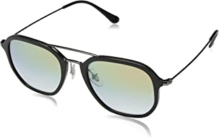RAY-BAN RB4273 Square Sunglasses, Grey/Gold Gradient, 52 mm