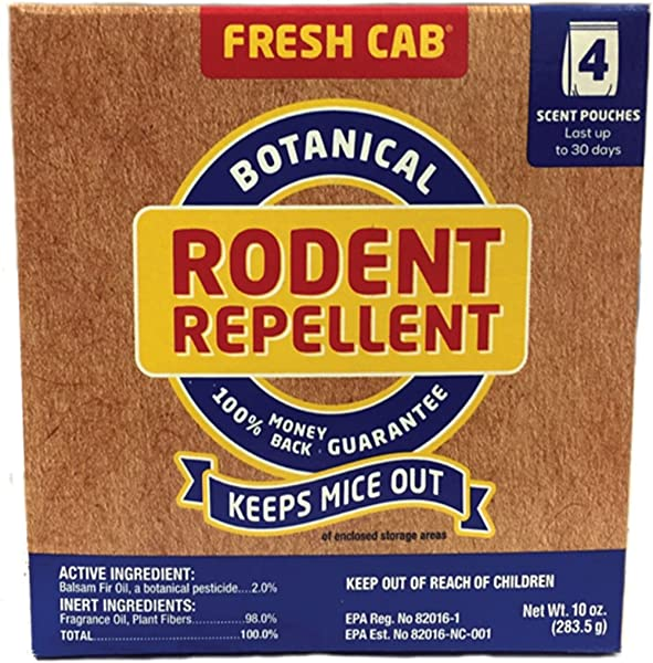 Fresh Cab Botanical Rodent Repellent Environmentally Friendly Keeps Mice Out 12 Scent Pouches