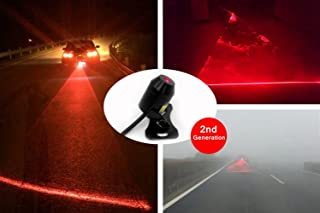 SWEON™ 12V Automotive Red LED Car Laser Fog Lamp Universal Anti Collision Rear-end Car or Motorcycle Laser Tail Fog Light Waterproof Auto Brake Parking Lamp Rearing Warning Safety Light(1-Set)