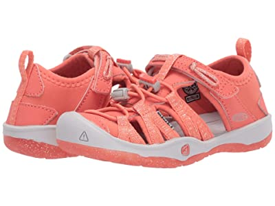 Keen Kids Moxie Sandal (Toddler/Little Kid) (Coral/Vapor) Girl