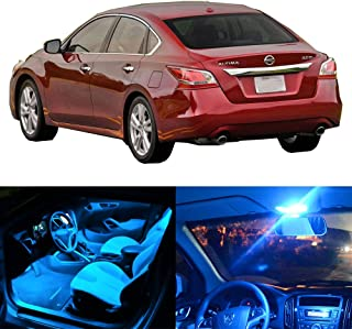 SCITOO LED Interior Lights 11pcs Ice Blue Package Kit Accessories Replacement Fits for 2015-2017 Nissan Altima