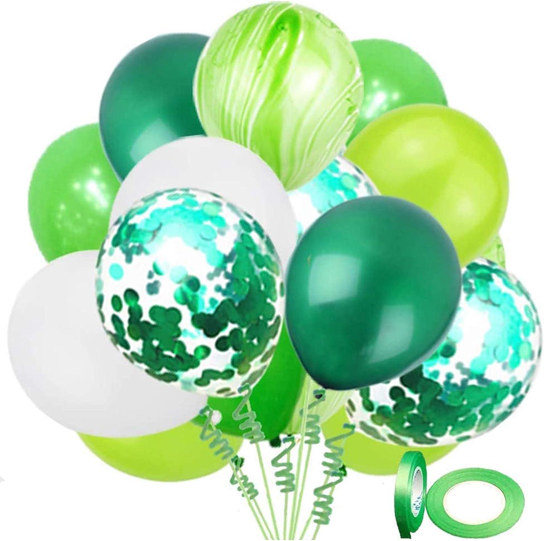 Dinosaur Party Balloons 62 Pack, 12 Inch White Light Green Fruit