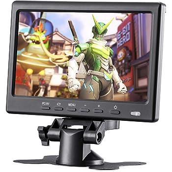 BASENSE 7インチ HDMI VGA AVディスプレイ 全視野1024x600 1080P LCD 液晶 画面 コンピュータ モニター 車 リア ビュー カメラ PC ラップトップ ラズベリーパイ Raspberry Pi 4B 3B+ 2B B +用 ヘッド ホン ジャック 付き