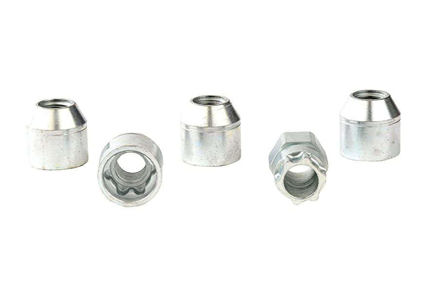 GM Accessories 17801027 M12x1.5x22.99 Steel Locking Lug Nuts with Key without External Threads (Pack of 4)
