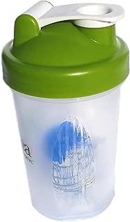 Protein Shaker Bottle w/Metal Ball,16oz BPA Free Classic Loop Top (Single)