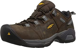 KEEN Utility Men's Detroit XT Low Steel Toe ESD Work Shoe,Cascade Brown/Gargoyle