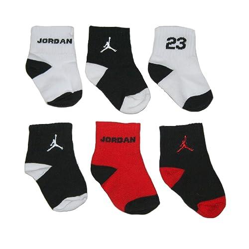 78adc78b9 Nike Newborn Baby Socks Black, White, Red, 6 PAIRS, Size 12-