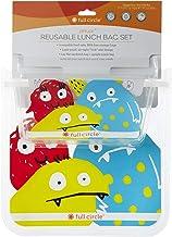 مجموعة أكياس الوجبات الخفيفة القابلة لإعادة الاستخدام من زيبتيك للأطفال من مجموعة الطعام والوحش