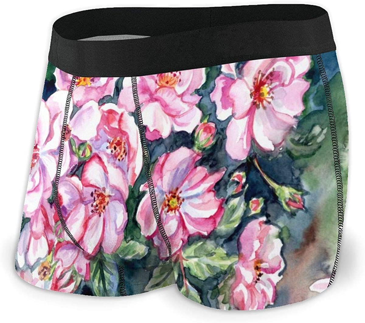 Mens Boxer Briefs Flowering Briar On The Bush Breathable Underwear