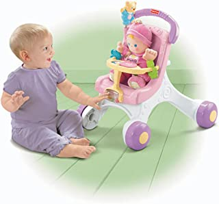 Fisher-Price Brilliant Basics Stroll-Along Walker with Baby's First Doll