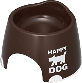 伊勢藤 小型犬専用フードボウルすべり止め付きチョコブラウン