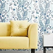 Finlayson Blue & White Verso Peel and Stick Removable Wallpaper