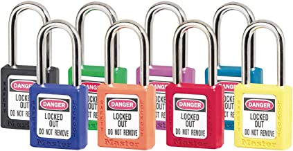 Master Lock Safety 410 Series Zenex Thermoplastic Padlocks, 8 Assorted Colors, 410AST