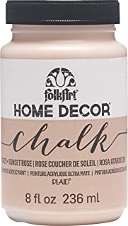FolkArt 34175 Home Decor Chalk Furniture & Craft Paint in Assorted Colors, 8 ounce, Sunset Rose