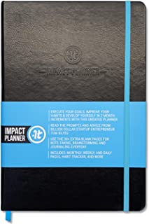 """Impact Planner by Impact Theory - Daily Planner, Weekly Planner, Monthly Planner - 7""""x10"""" Hardcover 2020 Planner, 2 Months..."""