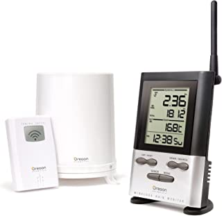 Oregon Scientific Wireless Rain Gauge Weather Station with Remote Sensor –..