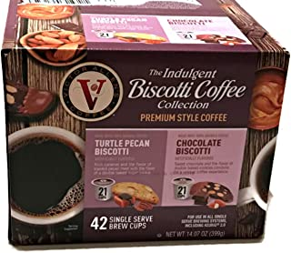 Victor Allens The Indulgent Biscotti Coffee Collection Premium Style Coffee (Variety Pack of 42)