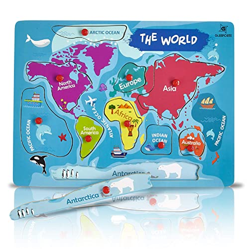 Continents and Oceans Map: Amazon.com