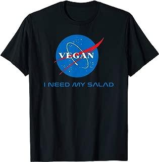 Vegan Logo NASA Classic Retro T-Shirt