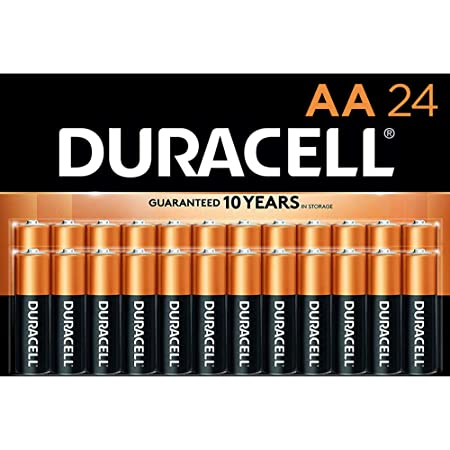 Anker AA Alkaline Batteries 4-pack Duracell - CopperTop AA Alkaline Batteries - long lasting, all-purpose Double A battery for household and business - 24 Count