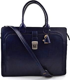 Cartella pelle valigetta ventiquattrore borsa ufficio uomo donna valigetta 24 ore borsa spalla blu borsa portadocumenti in...